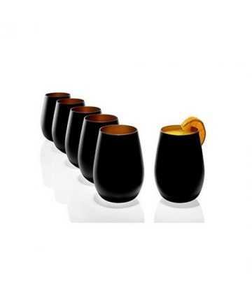 Pahar Stolzle Olympic Negru (mat) Bronz 465 ml-LIFE STYLE TIPS SRL