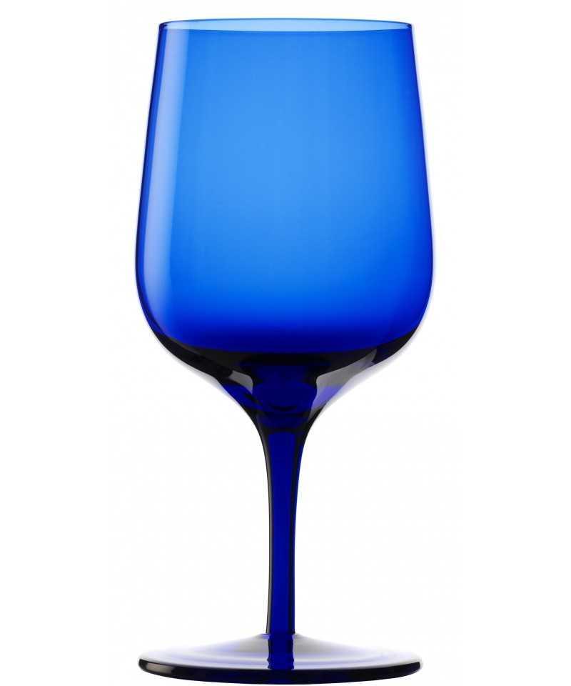 Pahar apa cu picior 340 ml, Stolzle, albastru, linia Grandezza-LIFE STYLE TIPS SRL